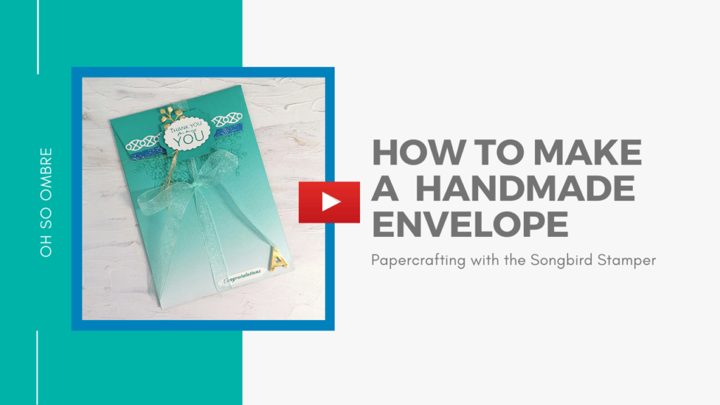 A link to a video showing how to make a handmade envelope