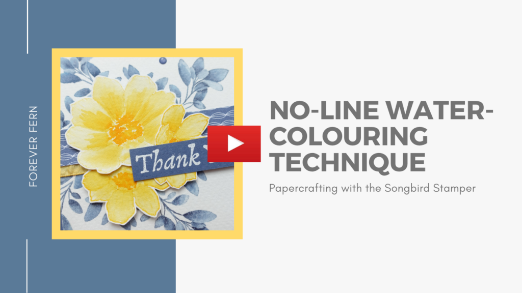 Watch this video to see how to use no-line watercolouring in your cardmaking