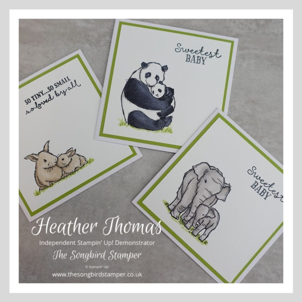 Handmade cards made with the Wildly Happy stamp set from Stampin' Up!