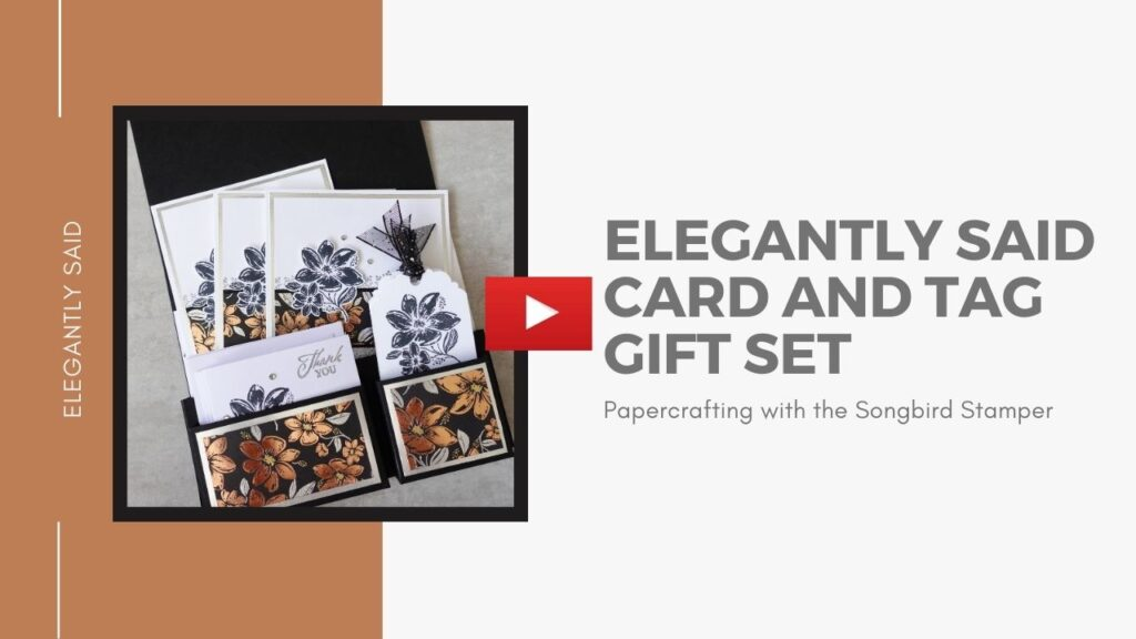 A YouTube video link showing how to make a handmade card and gift tag set.