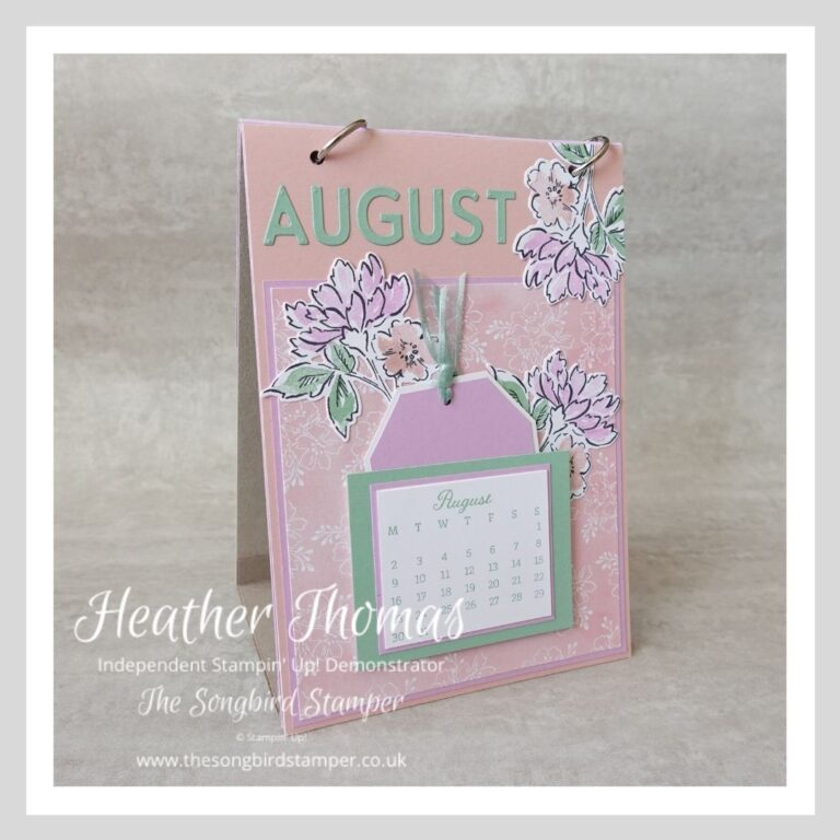 A handmade birthday calendar using the Hand Penned suite of products from Stampin' Up!