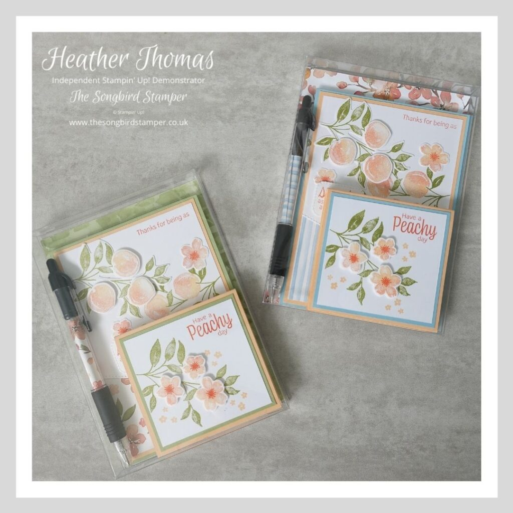 Two mini stationery sets, a perfect craft fair item or a little gift.