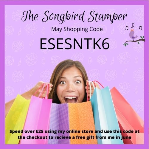 The Songbird Stamper monthly Shopping Code