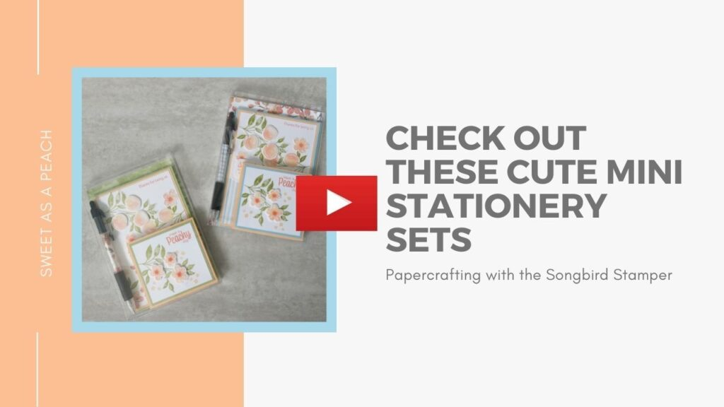 A video tutorial showing how to make a mini stationery set