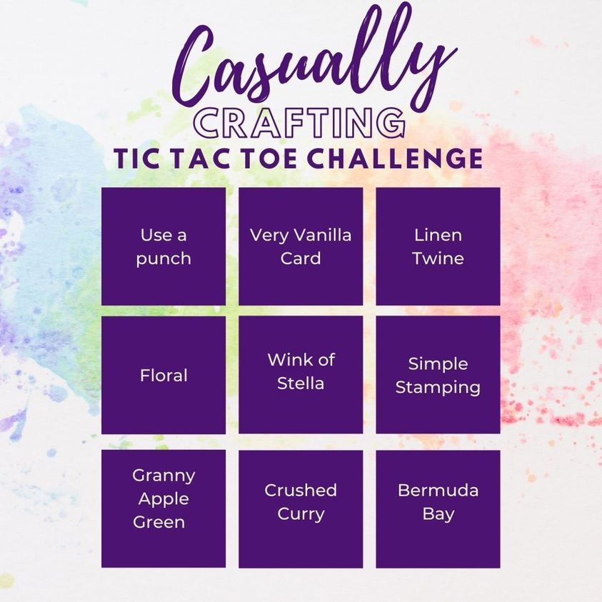 Casually Crafting Tic Tac Toe challenge grid