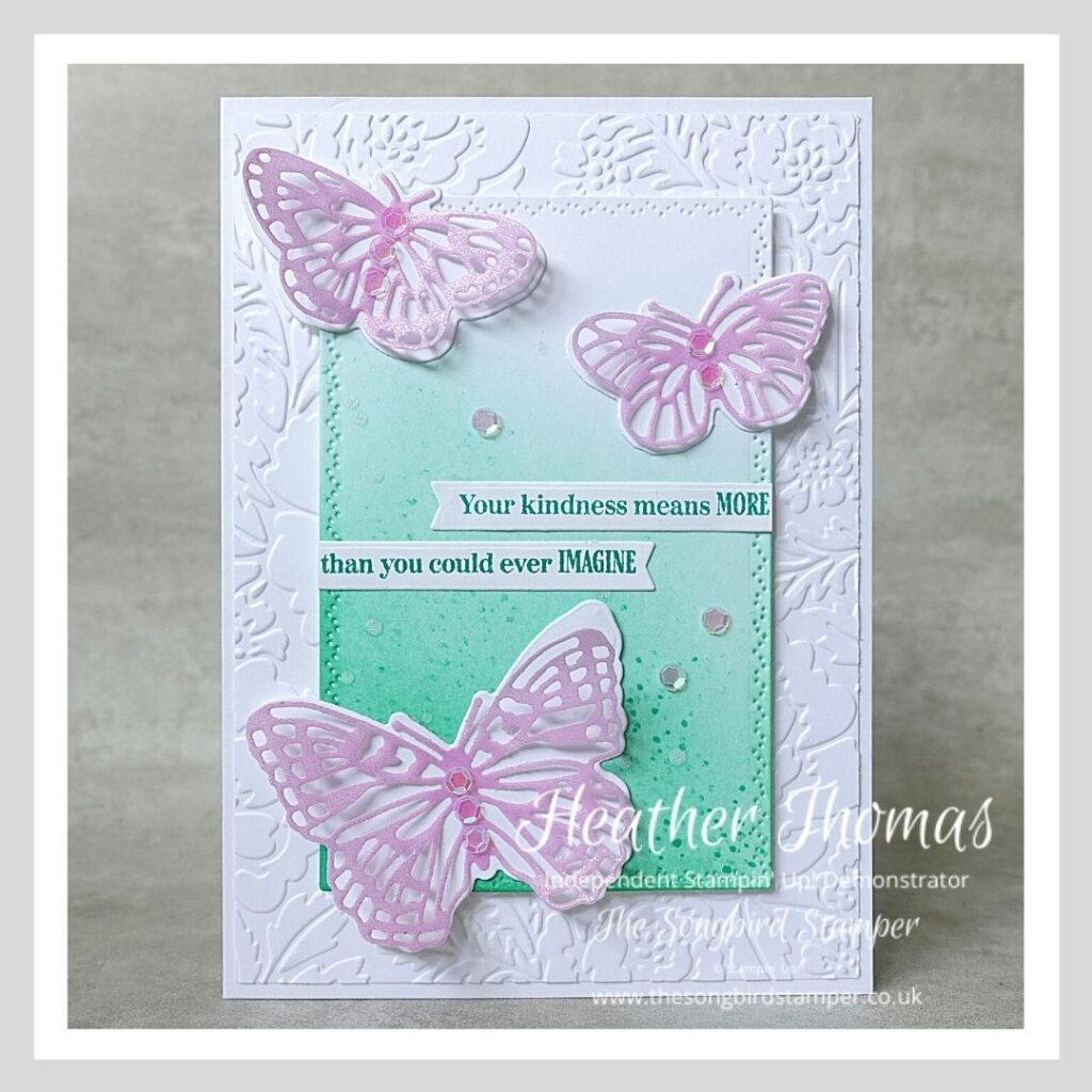 A handmade card using one of the Brilliant Blending Techniques and the Brilliant Wings dies from Stampin' Up!