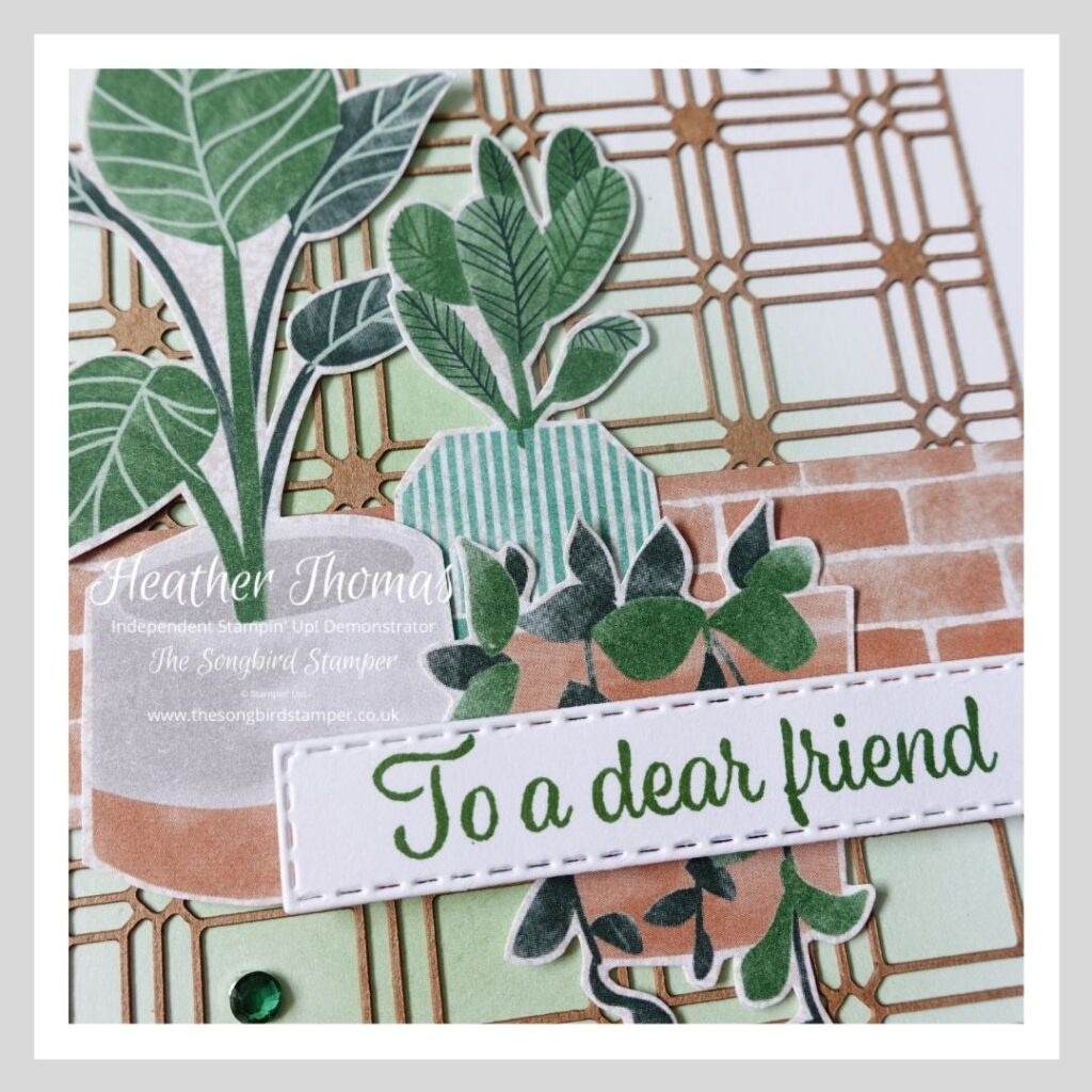 A close up of a handmade card using the Bloom where you are planted suite collection from Stampin' Up!